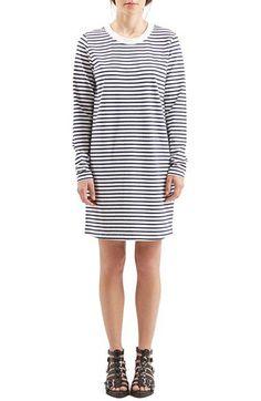 Topshop Boutique Stripe Long Sleeve Dress | Nordstrom