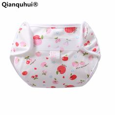 Qianquhui Single Layer Of Breathable Bamboo Fiber Cotton Printed Reusable Nappies Cloth Diaper Cartoon Baby Four Seasons
