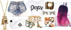 """""""Dope"""" by dinosaurskittlerawr on Polyvore"""
