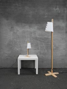 Koolah Lights Collection By Carla Cava y Jordi Poblet (Den Studio) Bauhaus, Agi Architects, Wooden Table Lamps, Contemporary Light Fixtures, Scandinavian Design, Lamp Light, Furniture Design, Lights, House Styles
