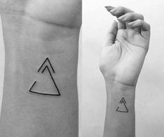 Here Are 11 Beautiful Tattoo Ideas For Those Who Are Free-Spirited & Live Life On Their Terms - Bestpins Meaningful Symbol Tattoos, Tatoo Symbol, Symbolic Tattoos, Boho Tattoos, Cute Tattoos, Beautiful Tattoos, Small Tattoos, Triangle Tattoo Meaning, Triangle Tattoos