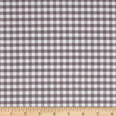 Riley Blake Basics Medium Gingham Gray Fabric