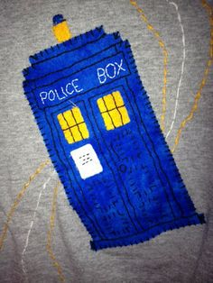 Doctor Who Tardis Embroidery
