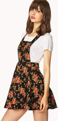 Floral pinafore dress suggested by linda natividad on DIY dress video