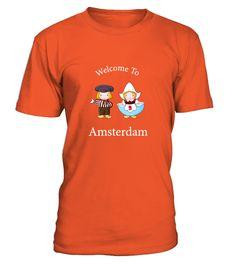 # welcome to amsterdam T-shirt .  Voorbereiding op de dag de dag King's.Krijg je shirt nu en als giften voor vrienden