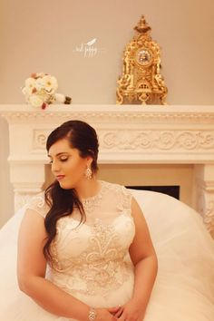 Real Wedding: A Curvy Bride's Lush Plantation Wedding  |  A Curvy Bride |  Dallas, Texas  | Plus-size bridal couture