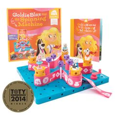 All Goldie all the time! Get three Goldie-featured favorites in one package: Goldie Blox and the Spinning Machine, the Goldie Blox Zipline Action Figure, and th