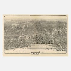 Chicago 1910 42.5x33, $250, now featured on Fab.