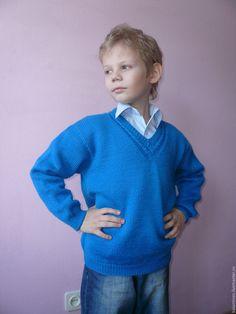 Купить Пуловер вязаный Джемпер мужской Свитер из шерсти Вязаный полувер - серый