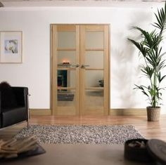 OAK Oslo Pre-finished Room Divider Range: Internal French doors with sidelight options Image Internal Wooden Doors, Internal French Doors, Interior Doors For Sale, Door Design Interior, French Doors With Sidelights, Sas Entree, Artwork For Home, French Interior, Cottage Chic