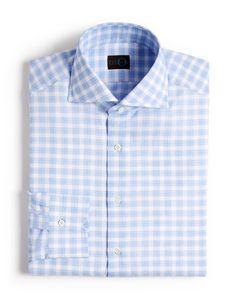 Eidos Gingham on Box Check Dress Shirt - Slim Fit