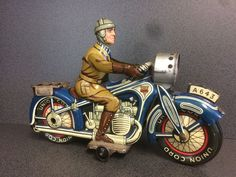Arnold (germany) No. A643 Tinplate Clockwork Motorcycle Vintage Tin Toy