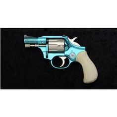 , barrel, turquoise and nickel finish, faux Revolver Pistol, Revolvers, Big Girl Toys, Custom Glock, Weapon Of Mass Destruction, Target Practice, Hunting Guns, Cool Guns, Vintage Bicycles