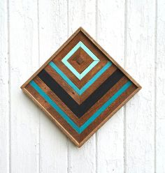 Reclaimed Wood Wall Art-Decor  Chevron Design  by PastReclaimed