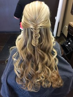 Fishtail braid and waves for that special occasion