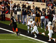 The biggest catch in Texas Tech football history. Michael Crabtree.