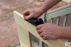 Building a screen door is a great DIY project that will add beautiful character to your home. Learn how to build a screen door with this tutorial. Screened Porch Doors, Screened In Patio, Front Porches, Front Door With Screen, Wood Screen Door, Wooden Screen, Funky Painted Furniture, Diy Furniture, Furniture Design