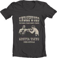 T-shirts by Kostya Tszyu by Anton Belousov, via Behance