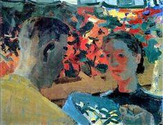 f0rtylegz: ~David Park~ Flower Market (1955)