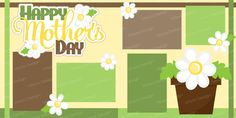 SVG file mother's day scrapbook kit layout pages