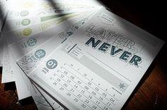 2015 letterpress calendar on Behance