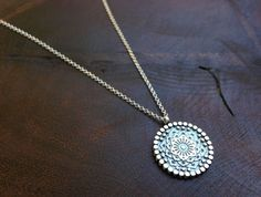 Wear you The Gratitude Mandala necklace as a reminder that the universe is filled with awareness, optimism & abundance. Jewelry Crafts, Handmade Jewelry, Bohemian Jewelry, Gratitude, Mandala, Artisan, Pendant Necklace, Optimism, Diamond