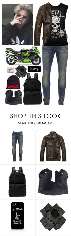 """Keith"" by pastel-punk-in-love-with-loki ❤ liked on Polyvore featuring Scotch & Soda, Kawasaki, Valentino, Supra, men's fashion and menswear"