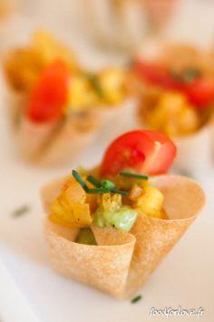Corolles de Guacamole, Gambas Sautées au Curcuma et au Citron - Food for Love