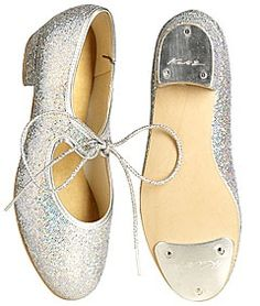 Starlite Silver Twinkle Hologram Tap Shoe Low Heel. Prices from £23.50 at www.dancinginthestreet.com. #tapdance