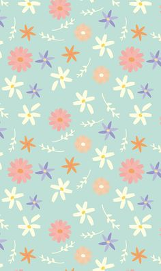 Find images and videos about flowers, wallpapers and pattern on We Heart It - the app to get lost in what you love. Apple Watch Wallpaper, Cute Wallpaper For Phone, Cute Patterns Wallpaper, Iphone Background Wallpaper, Cellphone Wallpaper, Aesthetic Iphone Wallpaper, Vintage Flowers Wallpaper, Colorful Wallpaper, Flower Wallpaper