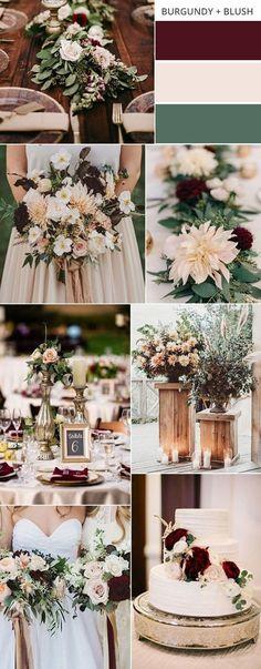 burgundy and blush fall wedding color ideas #weddingcolors #fallwedding #weddingideas #weddingdecor