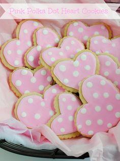 How to make pink polka dot cookies