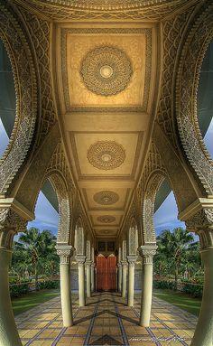 Moroccan Pavillion, Putrajaya, Malaysia, how to incorporat some detail like this
