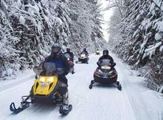 Snowmobiling in Gaylord  Located in the center of Northern Lower Michigan's Snow Belt, the Gaylord area averages over 180 inches of the white stuff annually and is surrounded by rolling hills, thousand of acres of unspoiled forests and over 300 miles of groomed snowmobile trails.