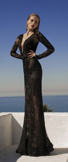 Sexy Black Evening Dresses(3) – Galia Lahav Moonstruck 2014 C_chaisen - 美丽鸟