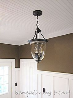 "Great link on how to redo lights in a modern built home to look old. This light was ""brassy"" now it's amazing."