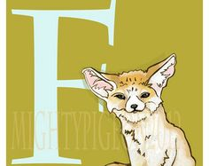 Under Appreciated Animals series. I'd like to do something like this, an ABC of unusual animals Abc Nursery, Fennec Fox, Unusual Animals, Scooby Doo, Something To Do, Kids Room, Inspiration, Fictional Characters, Art