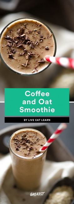 6. Coffee and Oat Smoothie
