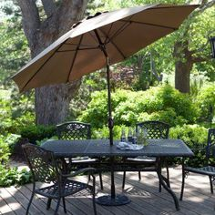 California Umbrella 11-ft. Fiberglass Double Vent Pacifica Fabric Tilt Market Umbrella Pacifica Black - GSCUF118705-SA08-DWV