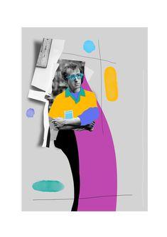 大膽色彩拼貼於伍迪艾倫 | MyDesy 淘靈感