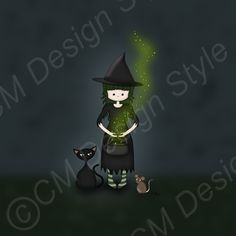 Whimsical Witch by ArtformTheHeart