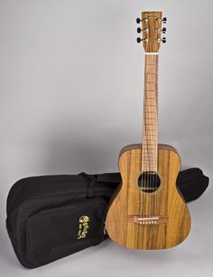 C. F. Martin Guitars - LXK2 Little Martin Dreadnaught Acoustic With Martin Padded Bag Case