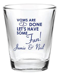 96 Personalized 1.5oz Wedding Favor Glass Shot Glasses Custom Wedding Favors on Etsy, $162.70 CAD