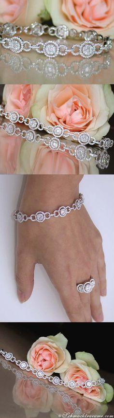 Beautiful Diamond Pendant, 4,12 cts. g-si/vsi, WG-18K - Find out: schmucktraeume.com - Visit us on FB: https://www.facebook.com/pages/Noble-Juwelen/150871984924926 - Contact: info@schmucktraeume.com