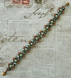 Linda's Crafty Inspirations: Bracelet of the Day: Craving Crystal - Green