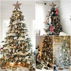 Rustic Christmas Tree Decor roundup!