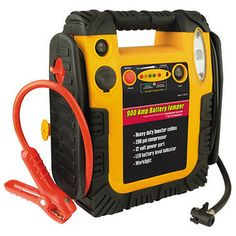 The Motor Trend Jumpstart / Compressor is a reliable, portable power source to help you out of your next roadside jam. Features include: twin 12-volt DC power ports for any size job; 60 Psi Air Compressor with built-in pressure gauge for fill-ups on the fly, and a Safety on/off switch for easy use.   100% security and convenience at about 1/2 the price selling elsewhere.   44% savings not good enough? Get a FREE 12-month subscription to Motor Trend magazine with your purchase.