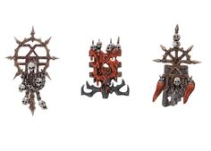 if these weren't so unbelievably expensive i'd say i'd get some of these. however, i'll say that lots of banners denoting a rabble-like horde, each with their own personal history and heraldry is definitely a look i want for my army.