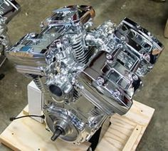 V-Quad 4 Cylinder Motorcycle Engine 214ci. Harley based, Air Cooled, pushrod. 250hp and 225 ft/lbs of torque.
