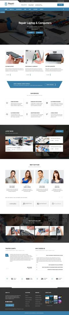 iRepair is beautiful WordPress #theme dedicated to #repair of electrical smartphones, #laptops and computers and home #appliances website. Download Now!